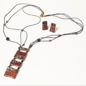 Chico's • Ladder Pendant Necklace & Earring Set